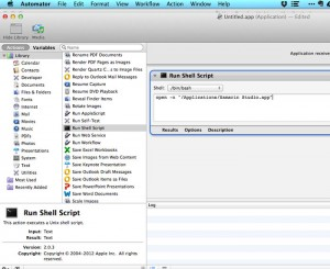 Automator - opening multiple versions of Xamarin Studio