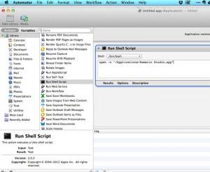 Automator - opening multiple versions of Xamarin Studio