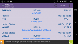 Mircules DX Cluster for Android